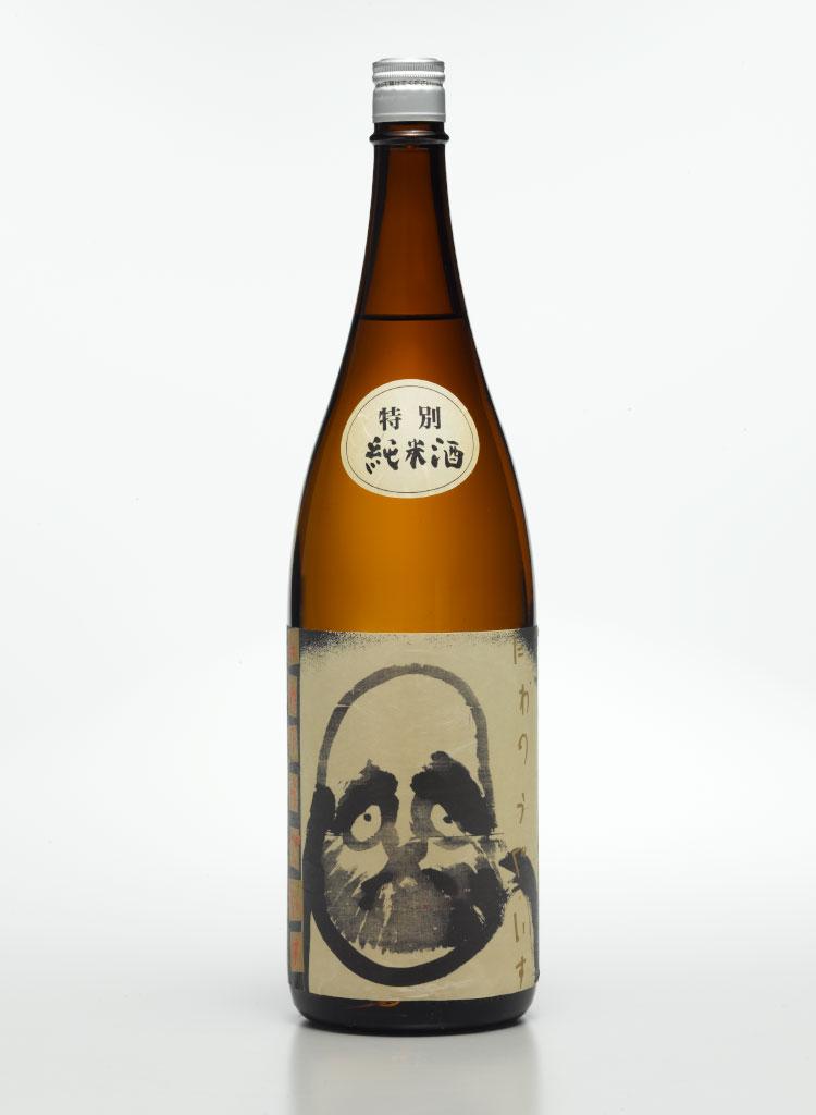 写真:庭のうぐいす だるまラベル 特別純米酒